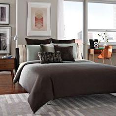 Kenneth Cole Reaction Home Hotel Comforter Set in Neutral - BedBathandBeyond.com --Bedroom?