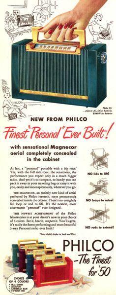 Philco portable radio 1950