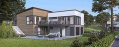 Et flott funkishus med en funksjonell planløsning Home Fashion, House Ideas, House Styles, Outdoor Decor, Design, Home Decor, Image, Home, Modern