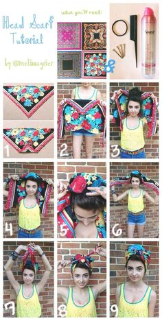 head scarf tutorial - much tidier than my way.