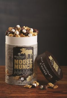 S'mores Moose Munch gourmet popcorn. A flavor for all ages.