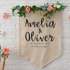 Add a personalised touch to your big day with a helping hand from the Cricut Explore Air 2 and the Design Space App and learn how to create this stunning wedding reception banner. Tea Party Wedding, April Wedding, Home Wedding, Diy Wedding, Wedding Reception, Rustic Wedding, Wedding Banners, Wedding Ideas, Wedding Stuff