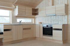 Ålhytte Interiør   Ålhytta Danish Kitchen, Cabin Kitchens, Next At Home, Log Homes, Interior And Exterior, Kitchen Design, Kitchen Ideas, Kitchen Cabinets, Home Decor