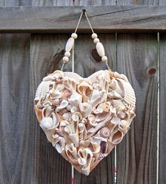Custom Seashell Heart - Handmade with Driftshells  --