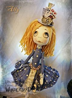OOAK Art Doll Urchin Ally by Lilliput Loft.