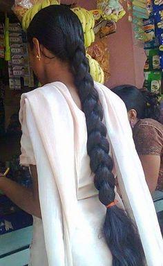 Long Silky Hair, Super Long Hair, Beautiful Braids, Beautiful Long Hair, Indian Hairstyles, Braided Hairstyles, Blonde Hair Black Girls, Indian Long Hair Braid, Cut My Hair
