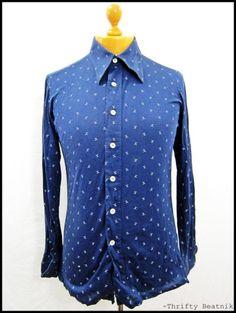 Blue dress shirt 1970