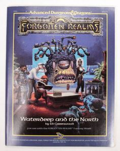 Advanced-Dungeons-And-Dragons-Forgotten-Realms-Waterdeep-and-the-North-AD-D-TSR