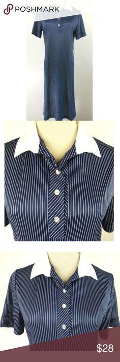 b870b01ecd94a VTG 60s 70s NPC Fashions Stripe Polo Shirt Dress M VTG 60s 70s NPC Fashions  Shirt
