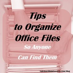 Tips to Organize Office Files – So Anyone Can Find Them Tips to Organize Office Files – small business office space DIY tips for file organization More from my siteThree Bin Laundry Sorter Diy Organisation, Small Office Organization, Paper Organization, Organising Ideas, Organization Station, Office Storage, Office Filing System, Business Desk, Business Tips
