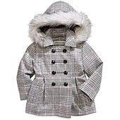 London+Fog+Kids+Coat,+Little+Girls+Houndstooth+Jacket
