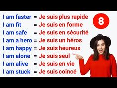 Les phrases pour améliorer votre anglais ✪ Phrases to improve your English ● Test #8 - YouTube French Words Quotes, Basic French Words, French Phrases, How To Speak French, Learn French, Learn English, French Language Lessons, Spanish Language Learning, French Lessons