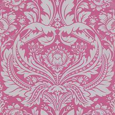Desire Pink Damask Wallpaper - Pink Fashion Wall Coverings by Graham Brown Pink Damask Wallpaper, Brown Wallpaper, Embossed Wallpaper, Glitter Wallpaper, Wallpaper Panels, Wallpaper Roll, Wall Wallpaper, Feature Wallpaper, Bedroom Wallpaper