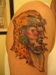 Aztec Tattoos | Aztec Warrior tattoo