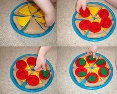 felt pizza slices