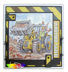 Digger, Construction, Dads, Men