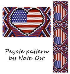 Instant Download Beading Pattern Peyote Stitch Bracelet by NataOst
