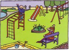 peuter-1ste kleuterklas: Thema 'op schoolreis naar de speeltuin'