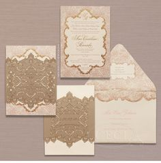 Our top five ways to enhance your wedding invitations with elegant lace details: Incorporate lace on the envelope and the invite Lace Invitations, Luxury Wedding Invitations, Save The Date Invitations, Wedding Invitation Design, Wedding Stationery, Wedding Prep, Wedding Planning, Dream Wedding, Brazilian Wedding