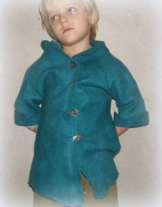 Hand made felted jacket for boy by Jurgafelt on Etsy, $150.00