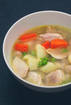 Hønsekødsuppe opskrift fra Bageglad