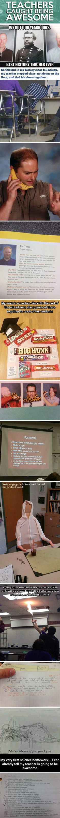 Teachers caught being awesome...
