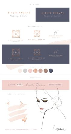 Birute Thomas Make-up Artist luxe branding / logo design / luxury /