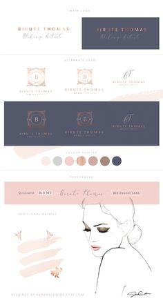 Birute Thomas Make-up Artist luxe branding / logo design / luxury /