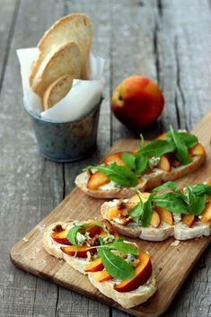 Peach & Arugula Bruschetta - Dish by Dish