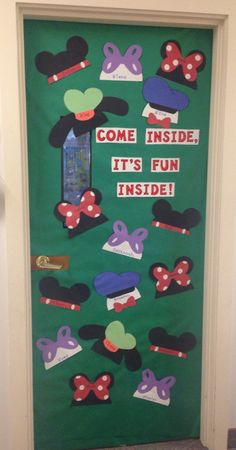 Classroom door decoration, Mickey Mouse Clubhouse