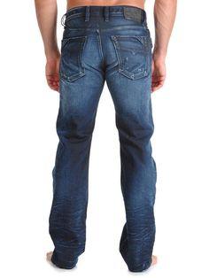 42c9b258 mens DIESEL MENNIT 0880F regular Slim straight leg denim JEANS size W29 L32  #Diesel #