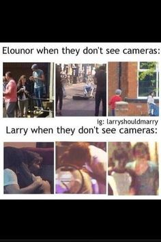 GOD! Louis is about as far from Eleanor as he can be but Lou and Harry are so close!!!