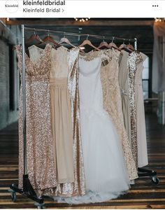 Inspire your desired bridal event with our bridesmaid clothes, looks & inspirations. Gold Brides Maid Dresses, Metallic Bridesmaid Dresses, Sparkly Bridesmaids, Winter Bridesmaid Dresses, Winter Bridesmaids, Champagne Bridesmaid Dresses, Wedding Bridesmaids, Wedding Dresses, Lace Dresses