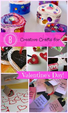 {8 Creative Crafts for Valentine's Day} DIY projects that can be used as simple activities, or as precious homemade gifts from the heart