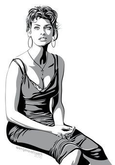 Linda Evangelista by sergemalivert