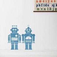 Stickers Robots - Bleu