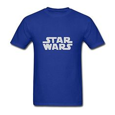 ZHUYOUDAO Custom Star Wars Simple Logo Tshirts for Mens Royal Blue XXL >>> See this great product.