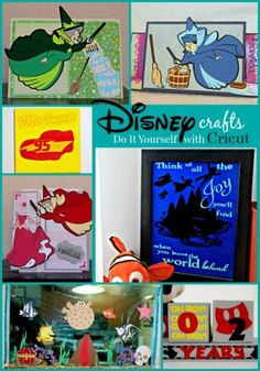 disney crafts A slew of projects I've done with Cricut's Disney Cartridges, and an awesome deal on the new FROZEN bundle with Explore! Disney Cards, Disney Diy, Disney Stuff, Diy Craft Projects, Crafts For Kids, Diy Crafts, Walt Disney World Vacations, Cricut Cards, Pinterest Diy