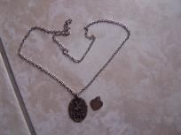 vintage love charm silver necklace and charm gift for valentine $7.99