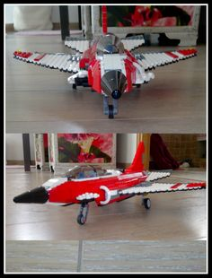 LEGO red airplane.