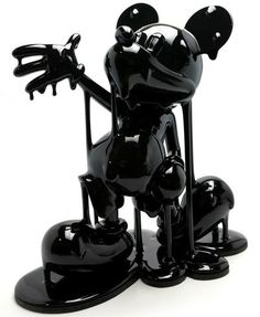 Baby Mickadek Black Black Legend figure by Ramzi Adek. Front view.