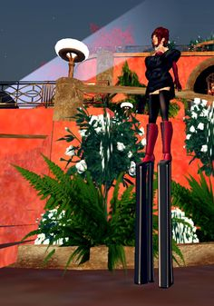 Stand out from the crowd by standing above it! With heels almost one and a half meters tall, the Uber Platform Boots might just be the highest heels in all the grid. From Curio Obscura in Second Life. #secondlife