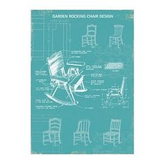 "BILD poster, rocking chair Width: 19 ¾ "" Height: 27 ½ "" Width: 50 cm Height: 70 cm"
