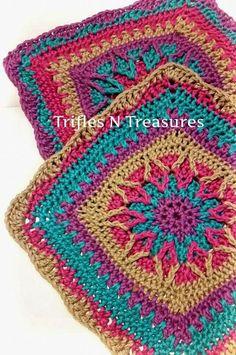 new crochet pattern: Starburst Crochet Granny Square: