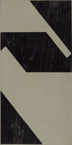 Tecelar, 1958 Woodcut print on Japanese paper Print: 50 x 25 cm / 19 5/8 x 9 7/8 in Paper: 65.3 x 30.5 cm / 25 3/4 x 12 in  © Projeto Lygia Pape  Courtesy Projeto Lygia Pape and Hauser & Wirth  Photo: Paula Pape