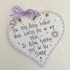 Wooden Hearts Crafts, Heart Crafts, Lilac Grey, Pink Blue, Personalized Mother's Day Gifts, Handmade Gifts, Heart Type, Mom And Grandma, Christmas Things