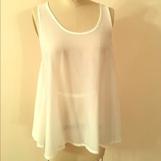 Millau sheer polyester tank sheer flowy strappy back tank. polyester LF Tops Tank Tops