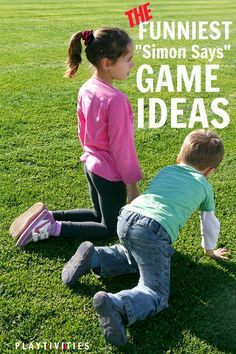 These funny simon says ideas will make kids move, participate and laugh all through the game. Great ice breaker activity, outdoor & indoor game for kids. All Family, Family Game Night, Family Games, Family Activities, Primary Activities, Valentine Activities, Group Games, Educational Activities, Simon Says Game