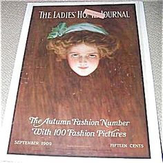 $53 LHJ magazine from Sept. 1909. The autumn fashion number. Cover by Harrison Fisher, Ladies Home Journal