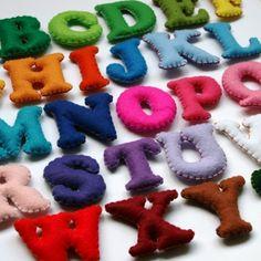 stuffed felt alphabet magnets: @Amy Jerome, whenever I see felt stuff lately, I think of you!